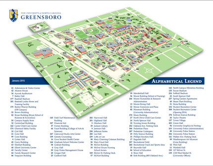 Unc Greensboro Campus Map.Location Uncg